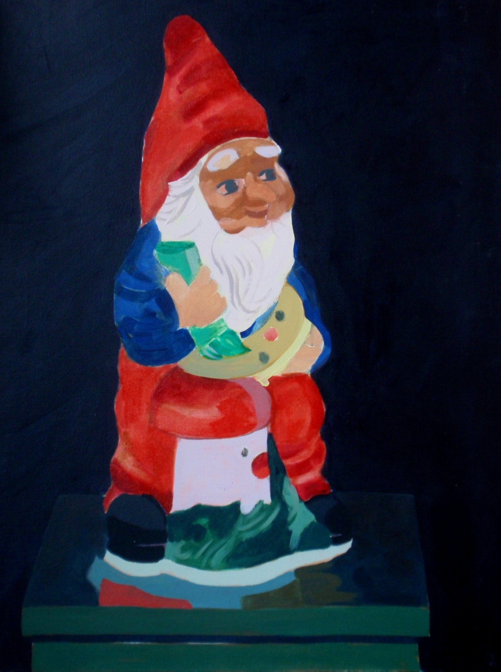 2011. Tuinkabouter/ Garden gnome. Oil on canvas. 60x50 cm.