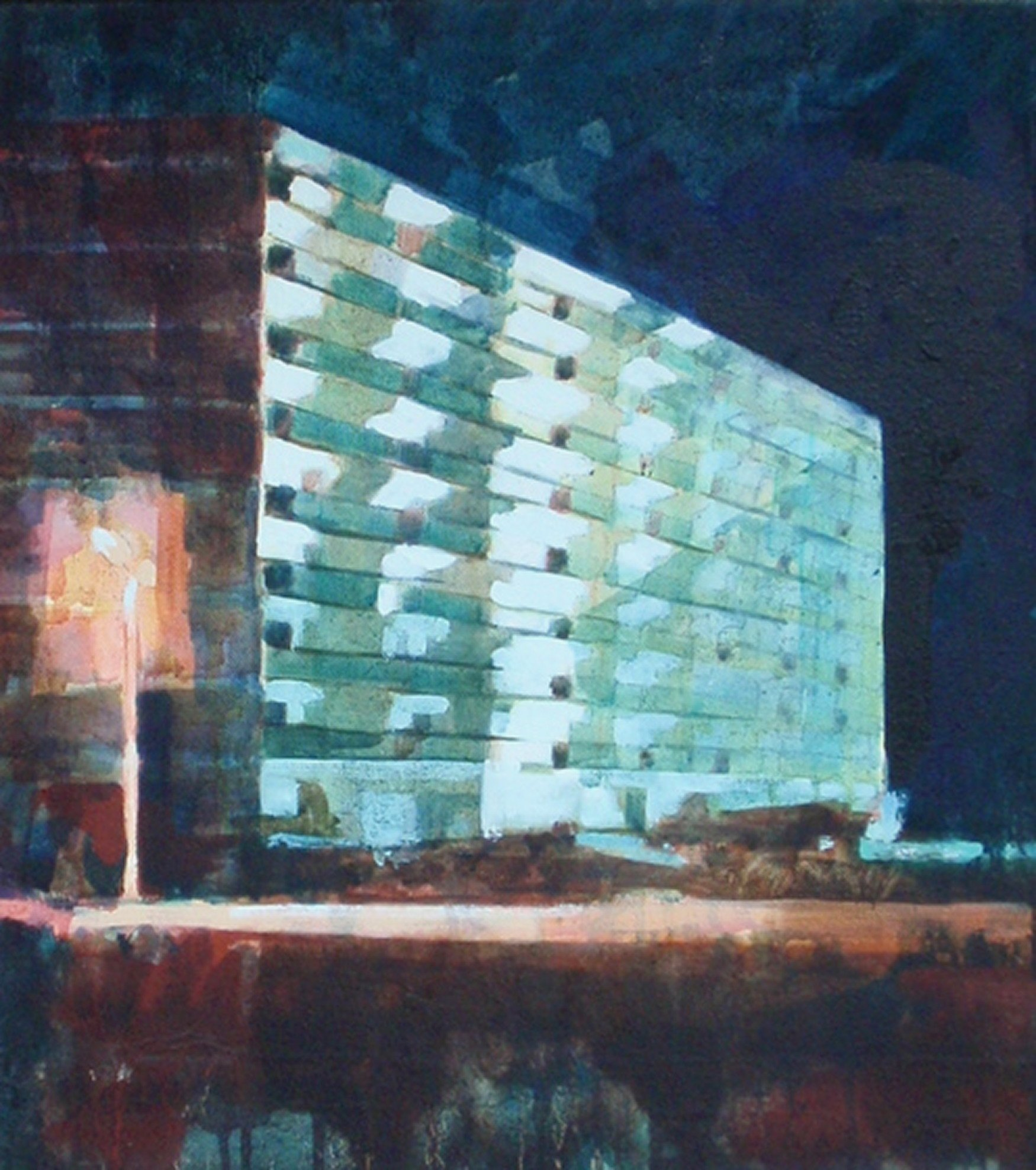 2007. Flat/Appartment building (2). Oil on canvas. 45x40 cm.