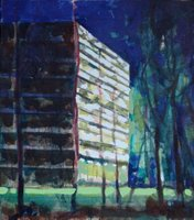 2007. Flat/Appartment building (4). Oil on canvas. 45x40 cm.
