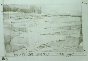 2013. Must be snow. Drawing. 35x40 cm.